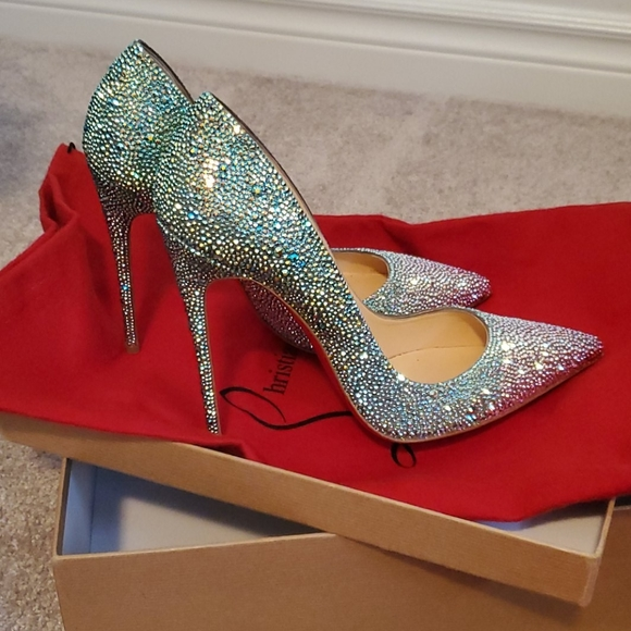 Christian Louboutin So Kate all crystal pumps.
